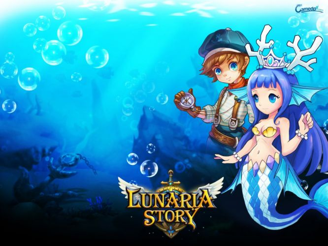 LUNARIA STORY mmo rpg fantasy scrolling online platform adventure fighting 1lstory action anime mermaid wallpaper