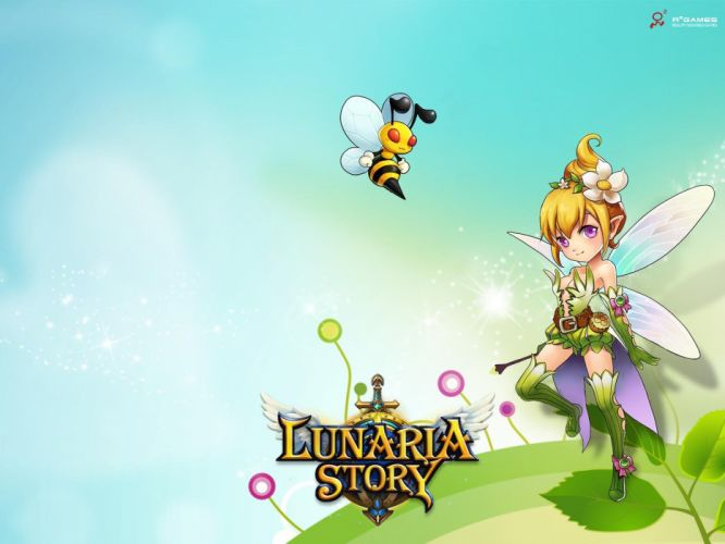 LUNARIA STORY mmo rpg fantasy scrolling online platform adventure fighting 1lstory action anime fairy wallpaper