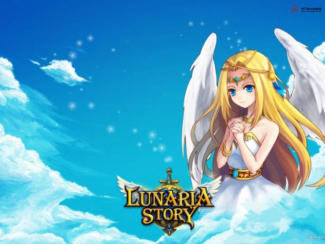LUNARIA STORY mmo rpg fantasy scrolling online platform adventure fighting 1lstory action anime angel wallpaper