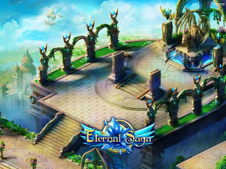 ETERNAL SAGA Online mmo rpg fantasy anime 1esaga fighting action adventure warrior wallpaper