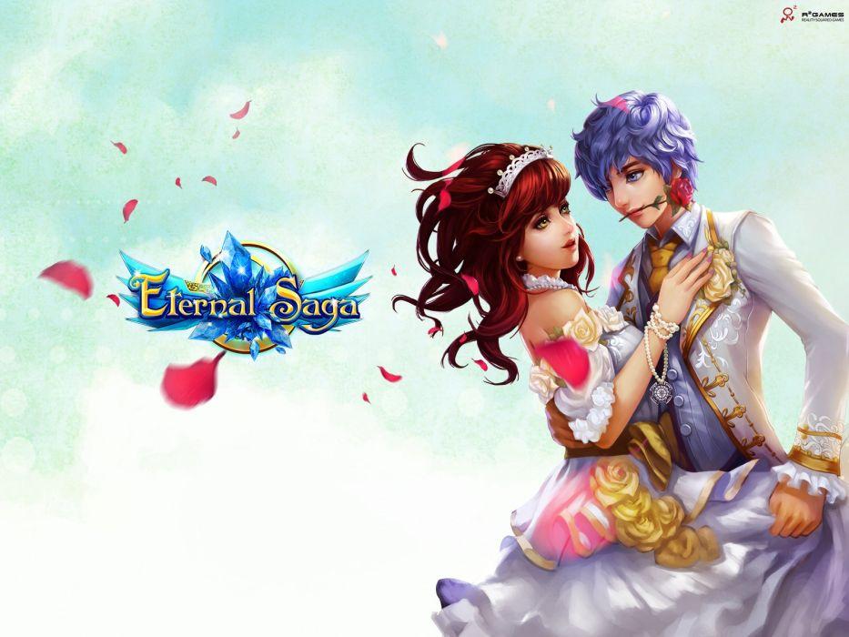 ETERNAL SAGA Online mmo rpg fantasy anime 1esaga fighting action adventure warrior wallpaper