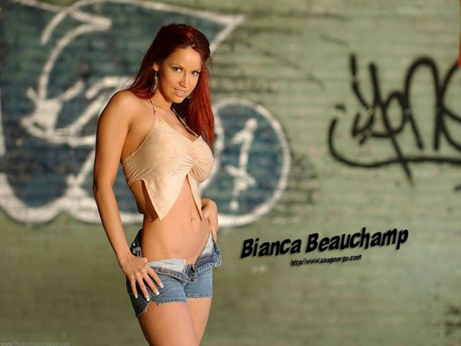 BIANCA BEAUCHAMP fetish latex sexy babe redhead glamour adult model erotic wallpaper