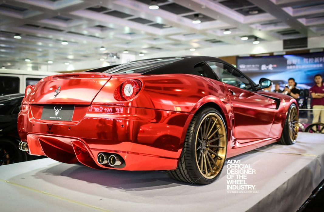 Ferrari Chrome 599 Gto Vinyl Wrap Red Wallpaper