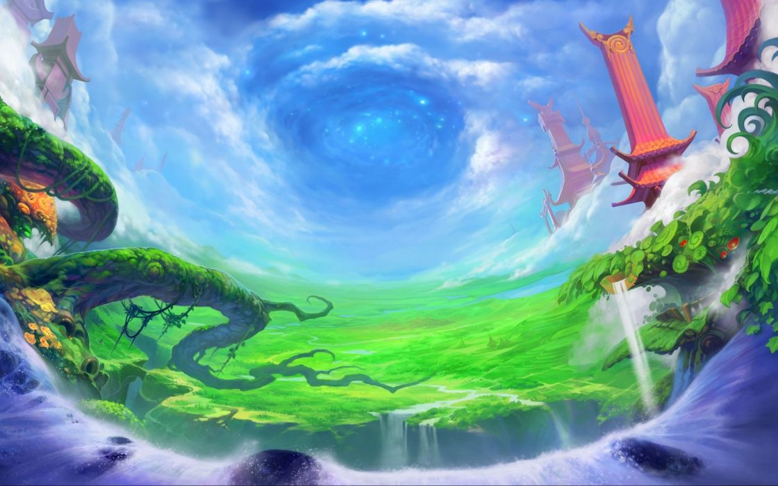 ETHER SAGA anime mmo rpg fantasy fighting action 1esaga platform online wallpaper