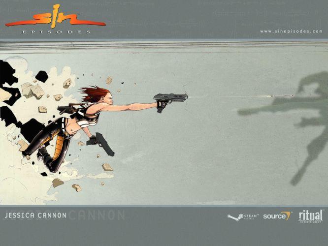 SIN EPISODES series shooter fps action fighting warrior 1sine fantasy sci-fi wallpaper