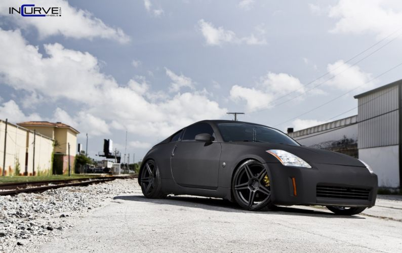 incurve wheels mercedes nissan 350Z tuning cars wallpaper