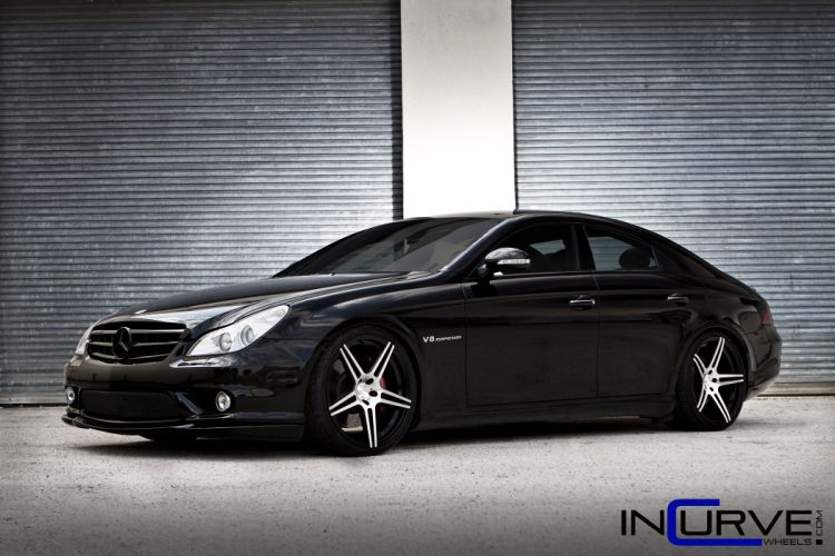 incurve wheels mercedes CLS55 AMG tuning cars wallpaper