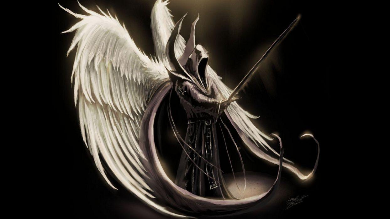 ART - diablo tyrael archangel angels darkness death daek wallpaper