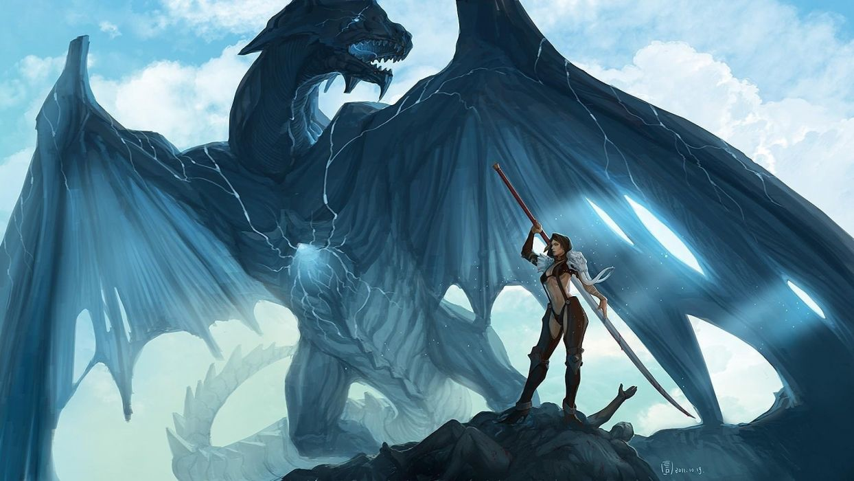 DRAGON - armor artwork blood corpse wallpaper