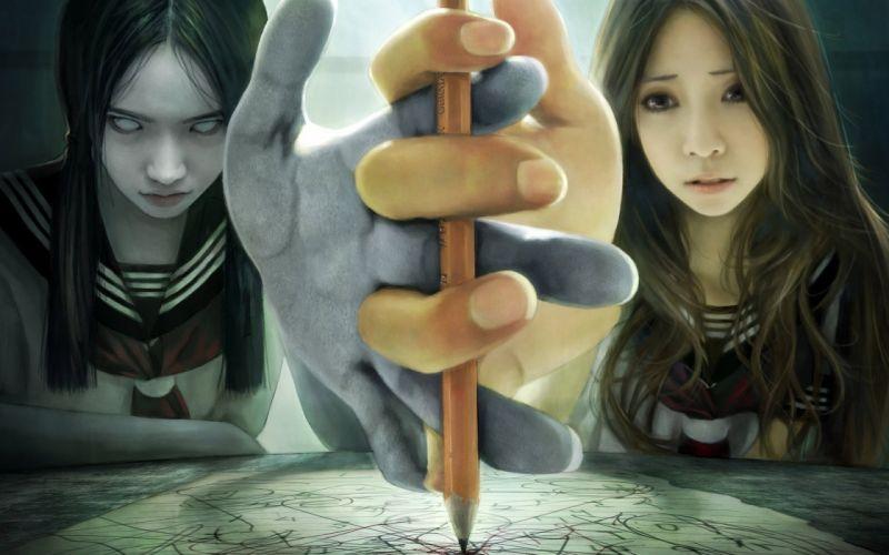 FEAR - Good And Evil dark pencil hands wallpaper