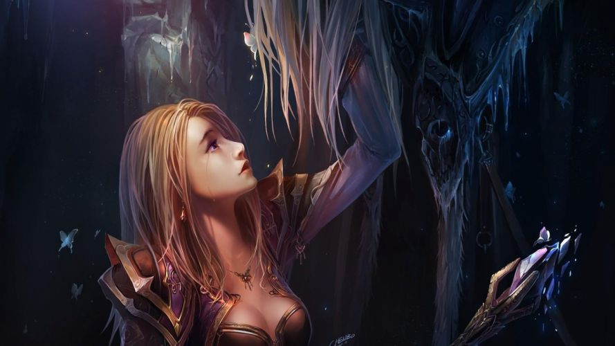 WOMEN WARRIOS - Arthas Jaina Proudmoore Warcraft World armor wallpaper
