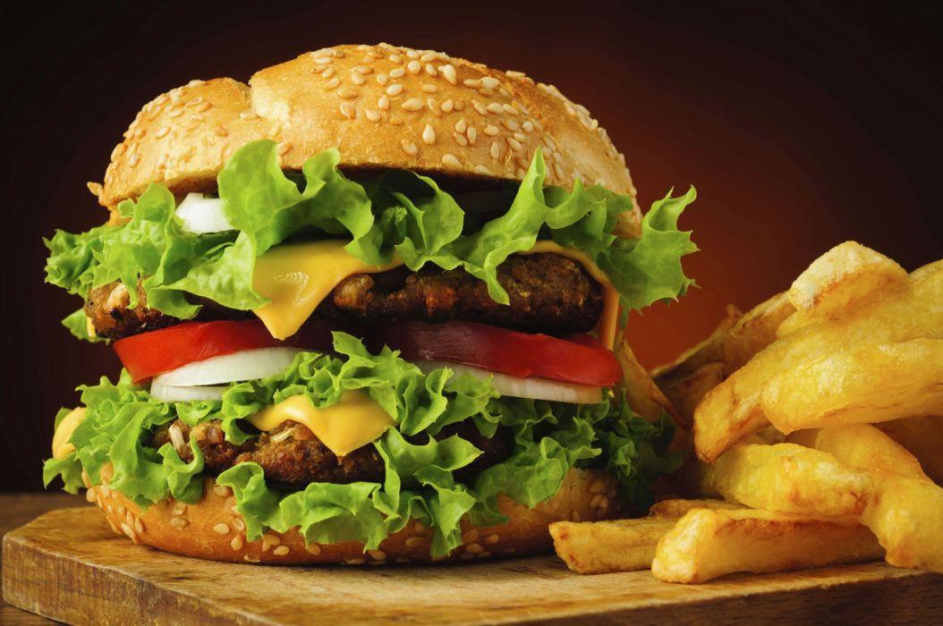 hamburguesa lechugas tomate carne pan wallpaper