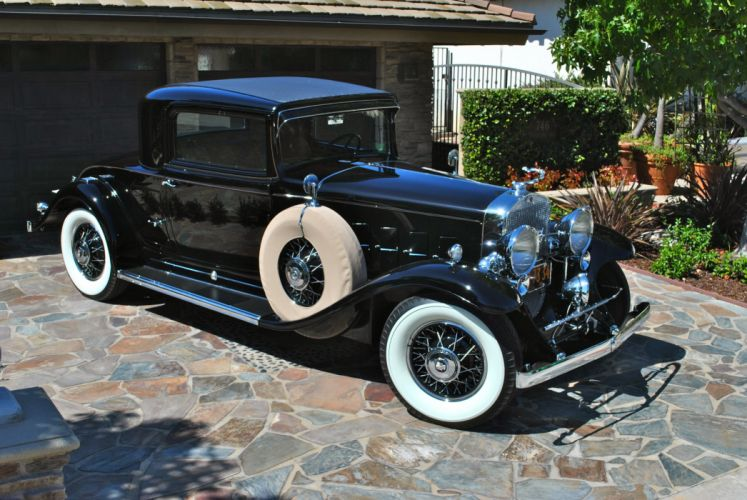 1933 Cadillac V-12 Rumble Seat Coupe CLassic USA d 3872x2592-01 wallpaper