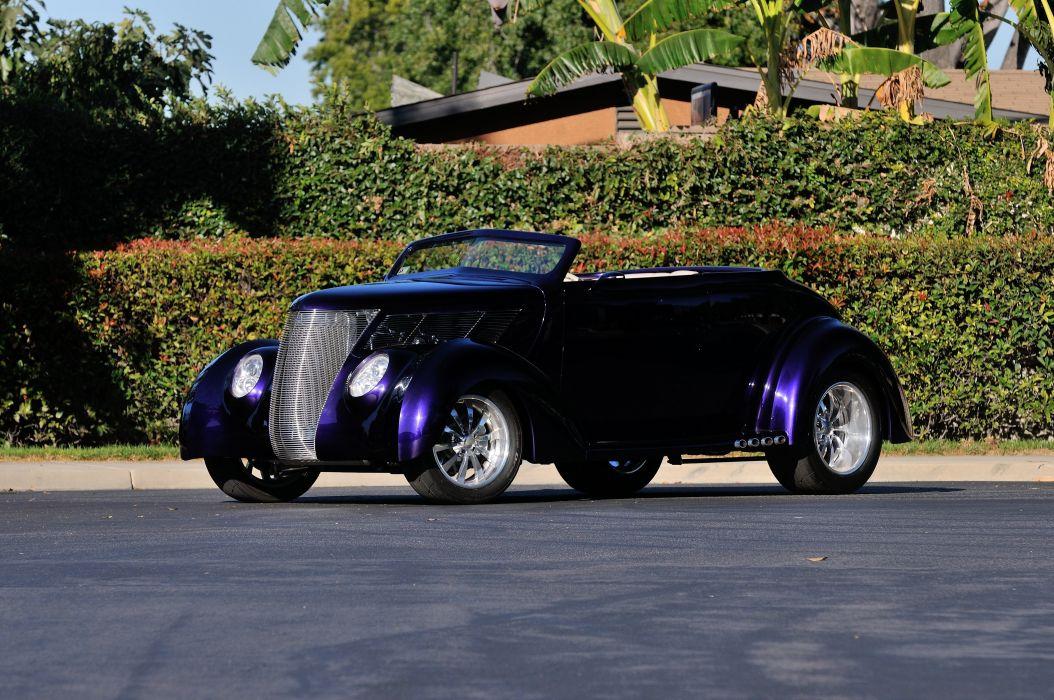 1937 Ford Convertible Hotrod Hot Rod Streetrod Street USA d 4288x2848-01 wallpaper