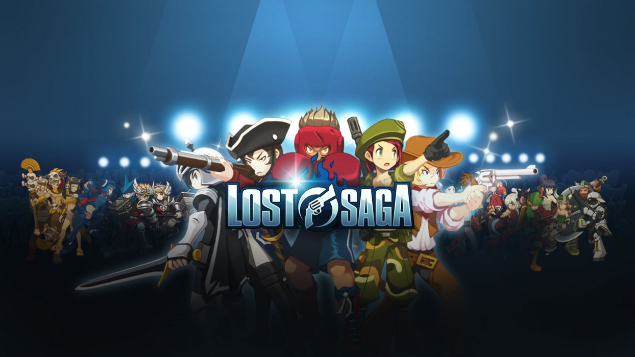 LOST SAGA mmo fantasy anime fighting 1losts dungeon action rpg warrior wallpaper