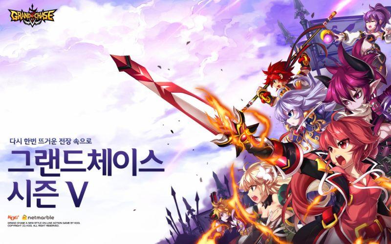 GRAND CHASE mmo rpg fantasy scrolling platform anime action fighting warrior 1gchase wallpaper