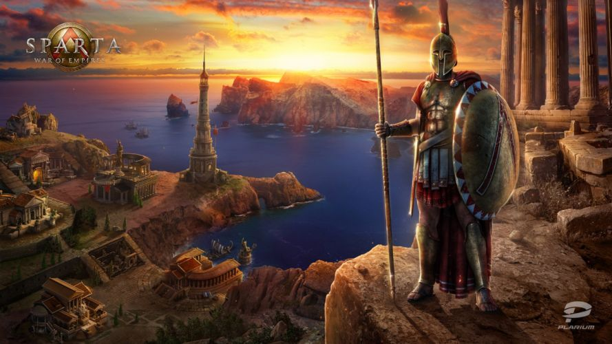 SPARTA WAR Of EMPIRES strategy mmo online fantasy rts action fighting warrior 1swoe poster wallpaper