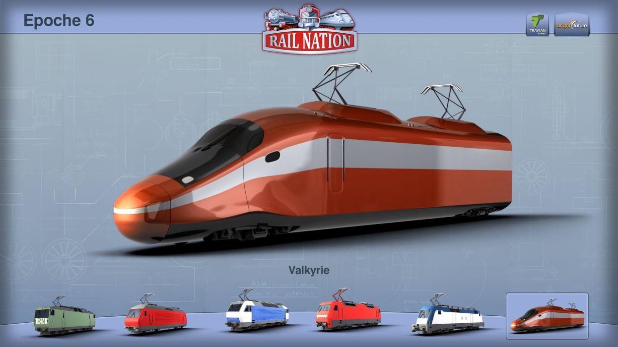 RAIL NATION online train railroad locomotive tracks 1railn strategy action railway wallpaper