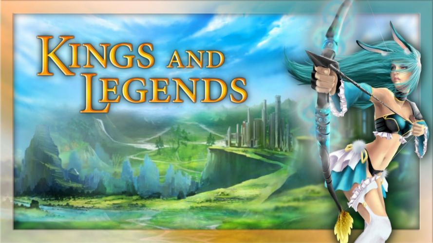 KINGS AND LEGENDS strategy card fantasy action fighting online mmo rpg 1kal warrior magic wallpaper