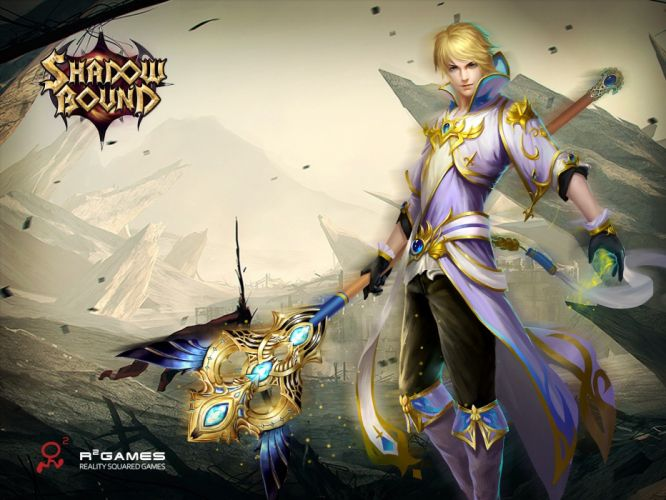 SHADOWBOUND fantasy mmo rpg action fighting adventure quest magic 1sbound magic warrior artwork poster wallpaper