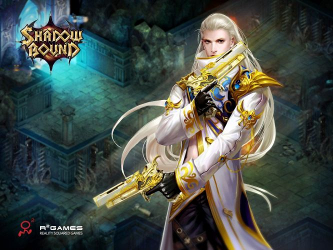 SHADOWBOUND fantasy mmo rpg action fighting adventure quest magic 1sbound magic warrior artwork wallpaper