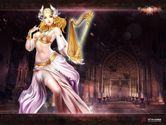 KINGDOM RIFT fantasy mmo rpg fighting action online quest adventure 1krift warrior poster girl babe magic wallpaper