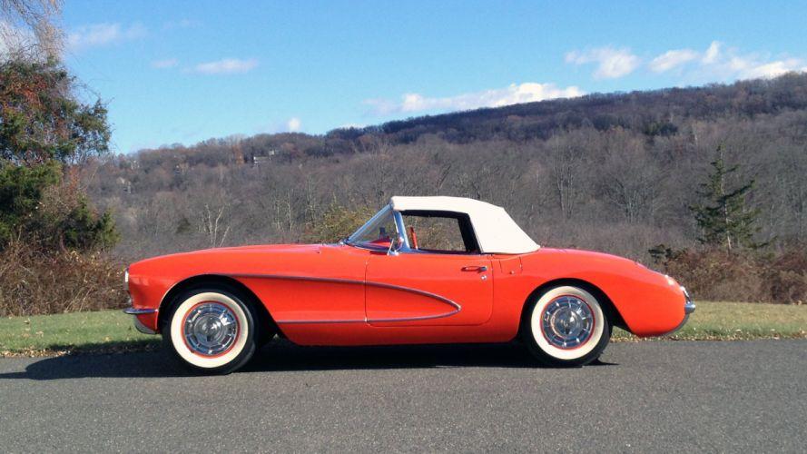 1956 Chevrolet Corvette Convertible Classic USA d 2311x1300-06 wallpaper