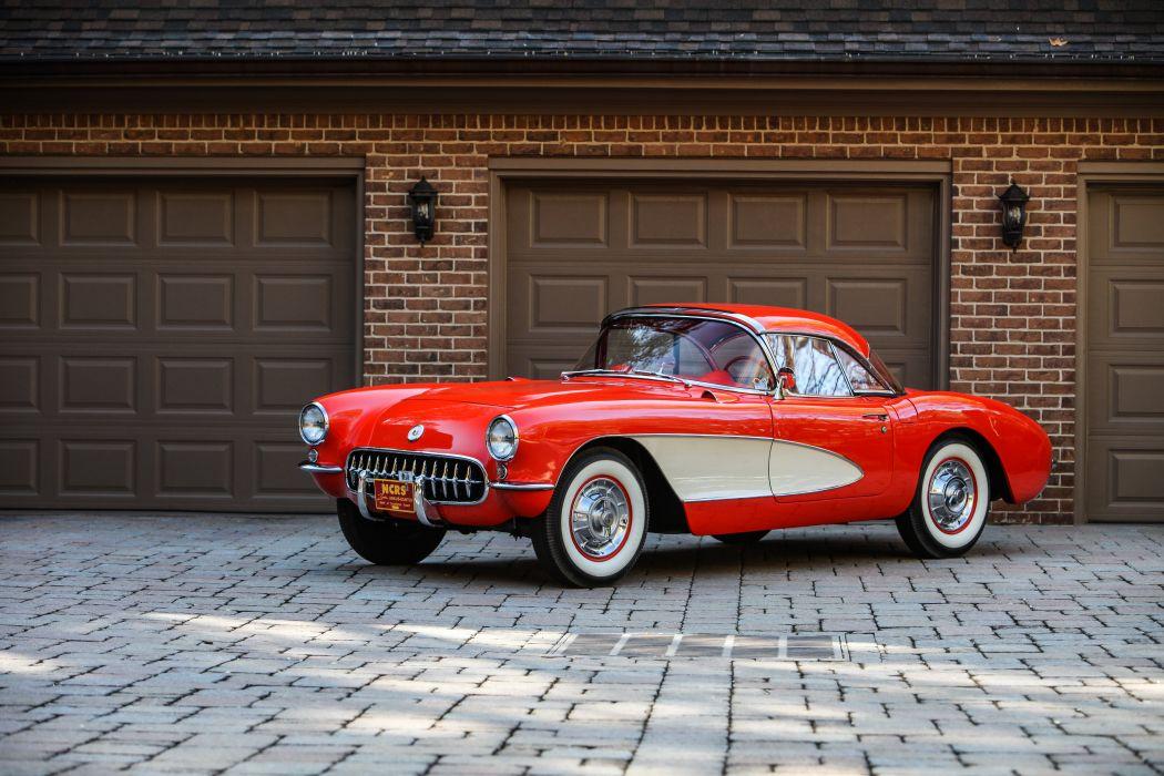 1956 Chevrolet Corvette Convertible Classic USA d 5616x3744-01 wallpaper