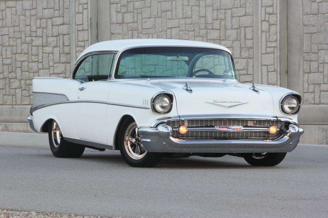 1957 Chevrolet Chevy Bleair Streetrod Street Rod Hot USA d 5184x3456-01 wallpaper
