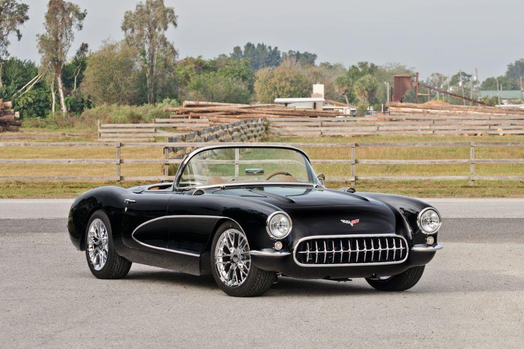 1957 Chevrolet Corvette Convertible Streetrod Street Rod Hot USA d 4831x3221-01 wallpaper