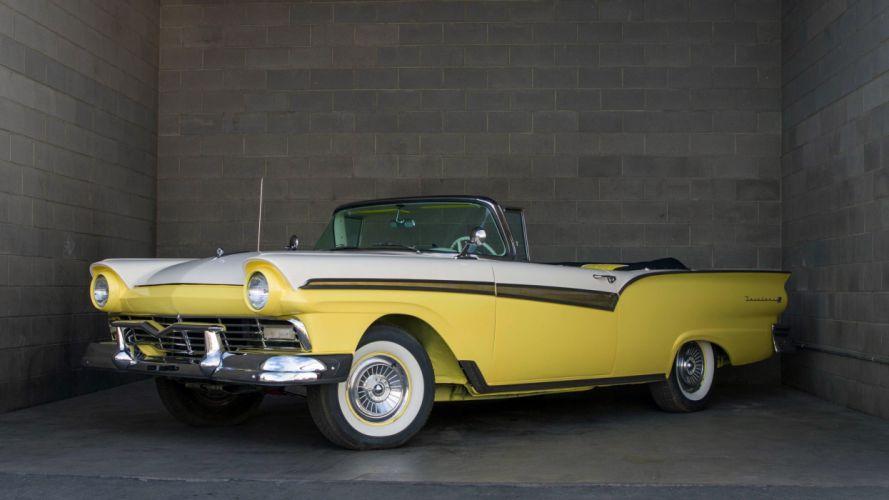 1957 Ford Fairlane 500 Sunliner Classic USA d 4110x2312-05 wallpaper