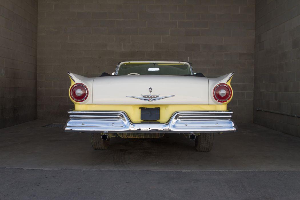 1957 Ford Fairlane 500 Sunliner Classic USA d 5130x3420-02 wallpaper