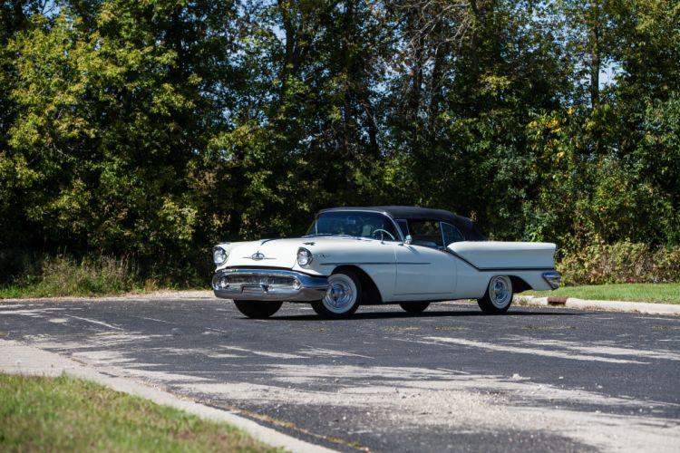 1957 Oldsmobile 98 Convertible Classic USA d 5616x3744-06 wallpaper