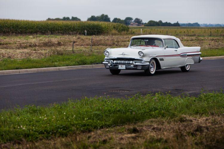 1957 Pontiac Bonneville Convertible Classic USA d 5616x3744-02 wallpaper
