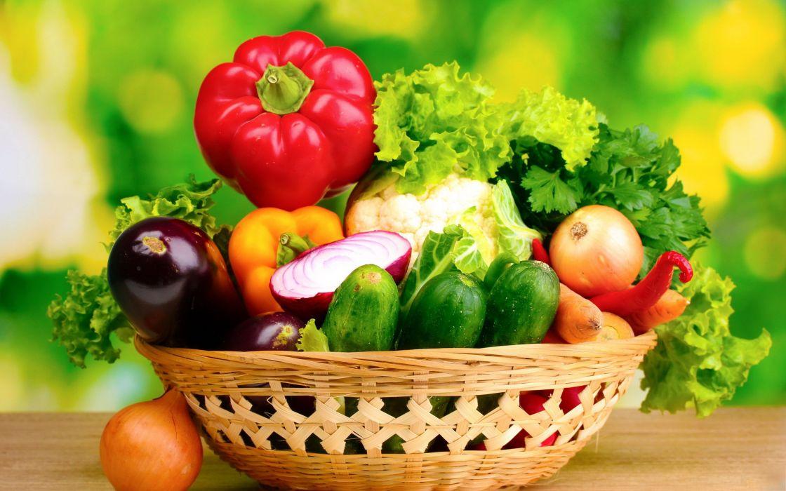 cesta verduras wallpaper