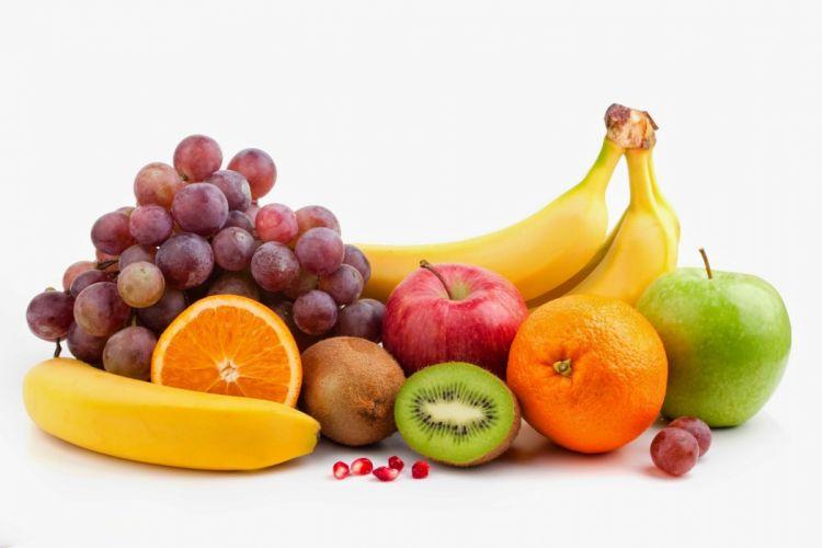 frutas uva kiwi nnaranjas platano manzanas wallpaper