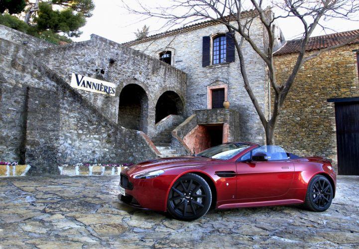 Aston Martin V12 Vantage S Roadster convertible cars 2015 wallpaper
