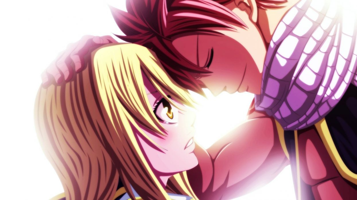 anime series fairy tail blonde girl male guy lucy wallpaper
