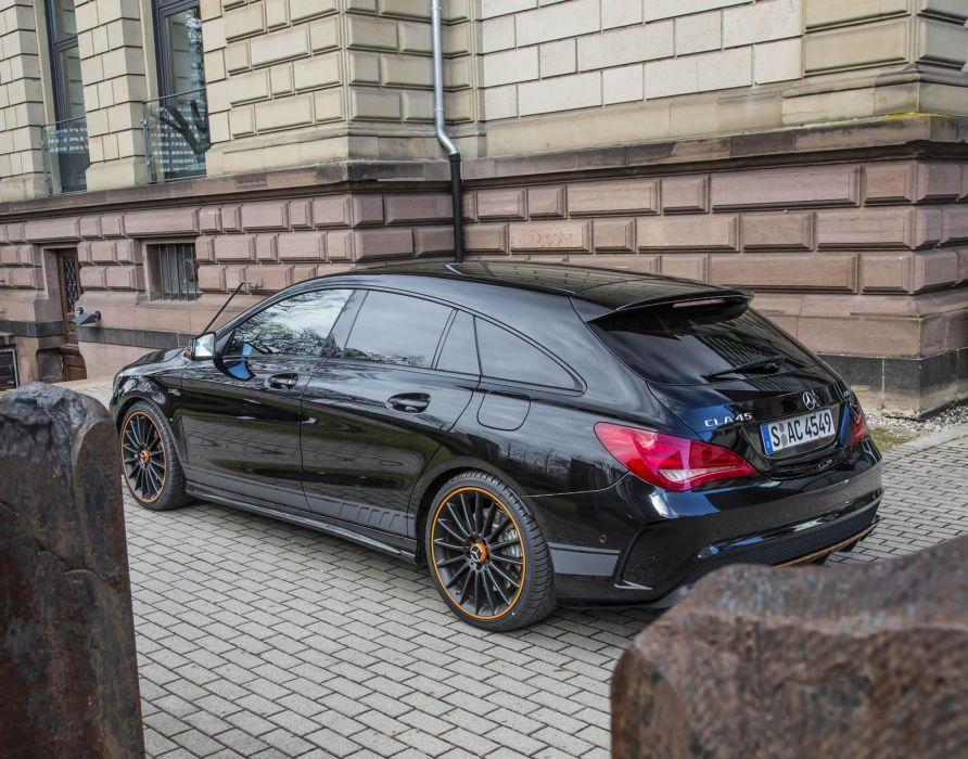 Mercedes Benz Cla 45 Amg Shooting Brake Orangeart Edition Wagon Cars Black 2017 Wallpaper