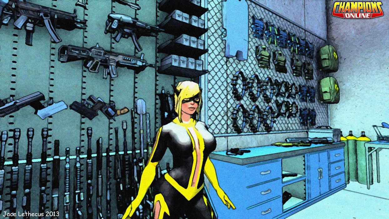CHAMPIONS ONLINE superhero mmo rpg fantasy action fighting microsoft xbox 1champo hero heroes sci-fi warrior arena sexy babe wallpaper
