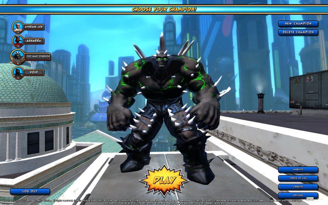 CHAMPIONS ONLINE superhero mmo rpg fantasy action fighting microsoft xbox 1champo hero heroes sci-fi warrior arena mecha wallpaper