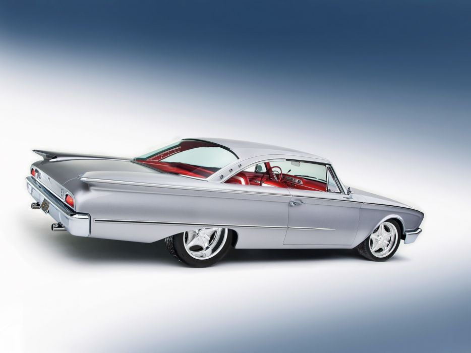 1960 Ford Starliner Coupe Streetrod Street Rod Hot d 3692x2769-03 wallpaper