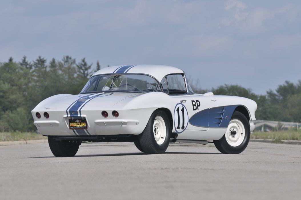 1961 Chevrolet Corvette Race Car Muscle USA d 4288x3216-03 wallpaper