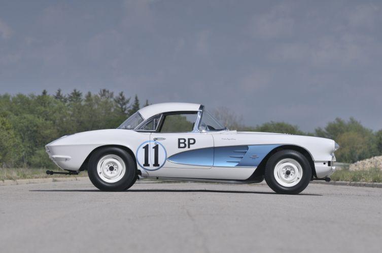 1961 Chevrolet Corvette Race Car Muscle USA d 4288x3216-02 wallpaper