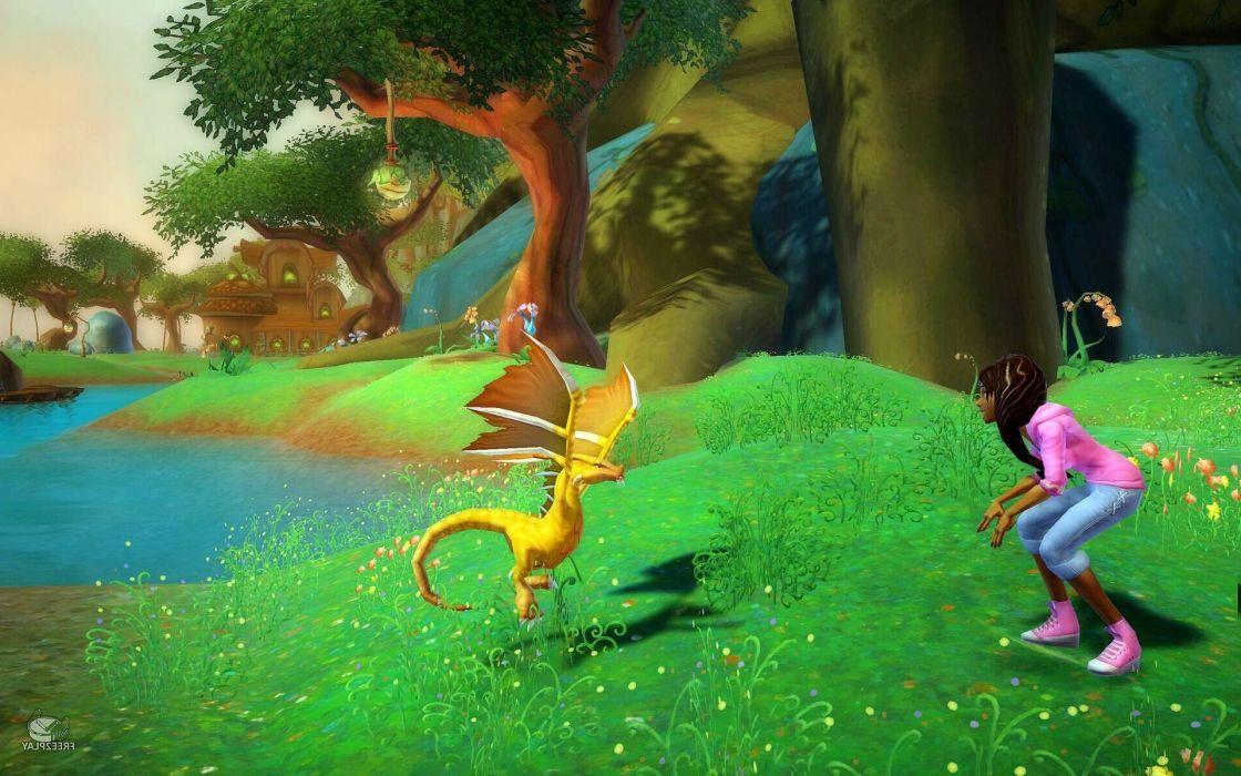 FREE REALMS fantasy mmo rpg online comics adventure exploration quest 1frealms dragon wallpaper