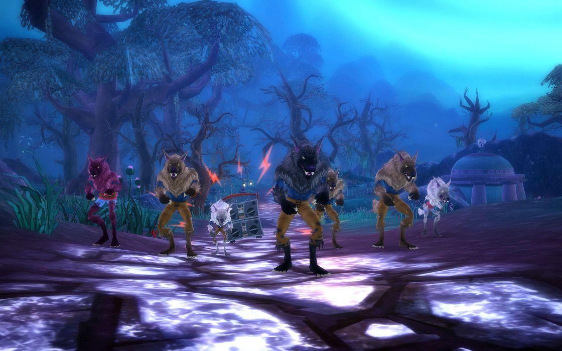 FREE REALMS fantasy mmo rpg online comics adventure exploration quest 1frealms dark werewolf wallpaper