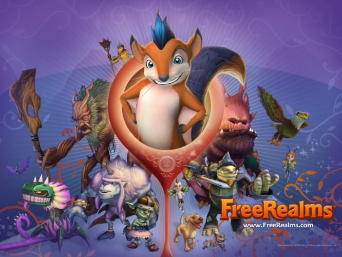 FREE REALMS fantasy mmo rpg online comics adventure exploration quest 1frealms poster wallpaper