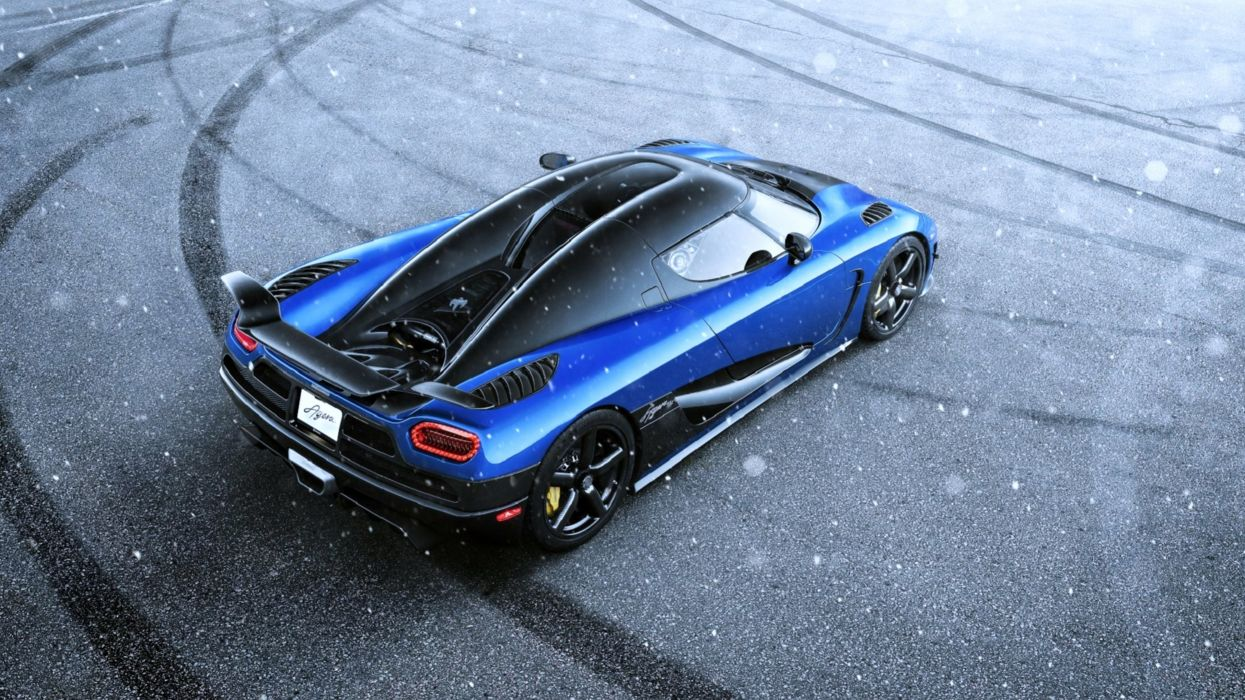 Koenigsegg Agera HH Blue Supercar Snow speed motors cars wallpaper