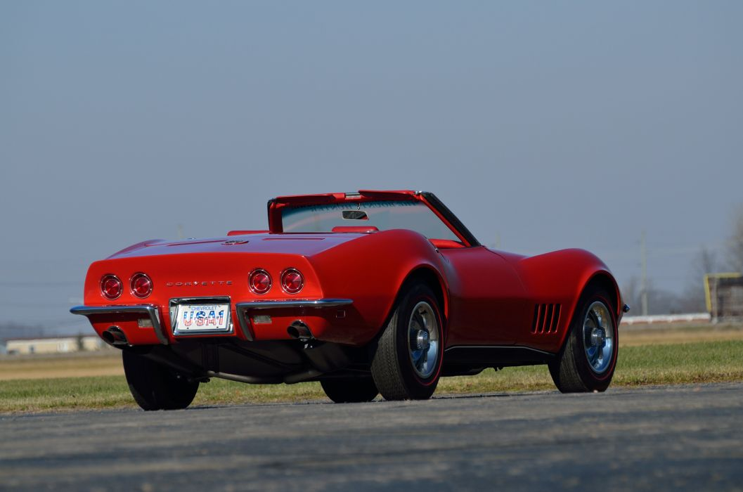 1968 Chevrolet Corvette Stingray Convertible Muscle Classic USA d 4928x3264-03 wallpaper