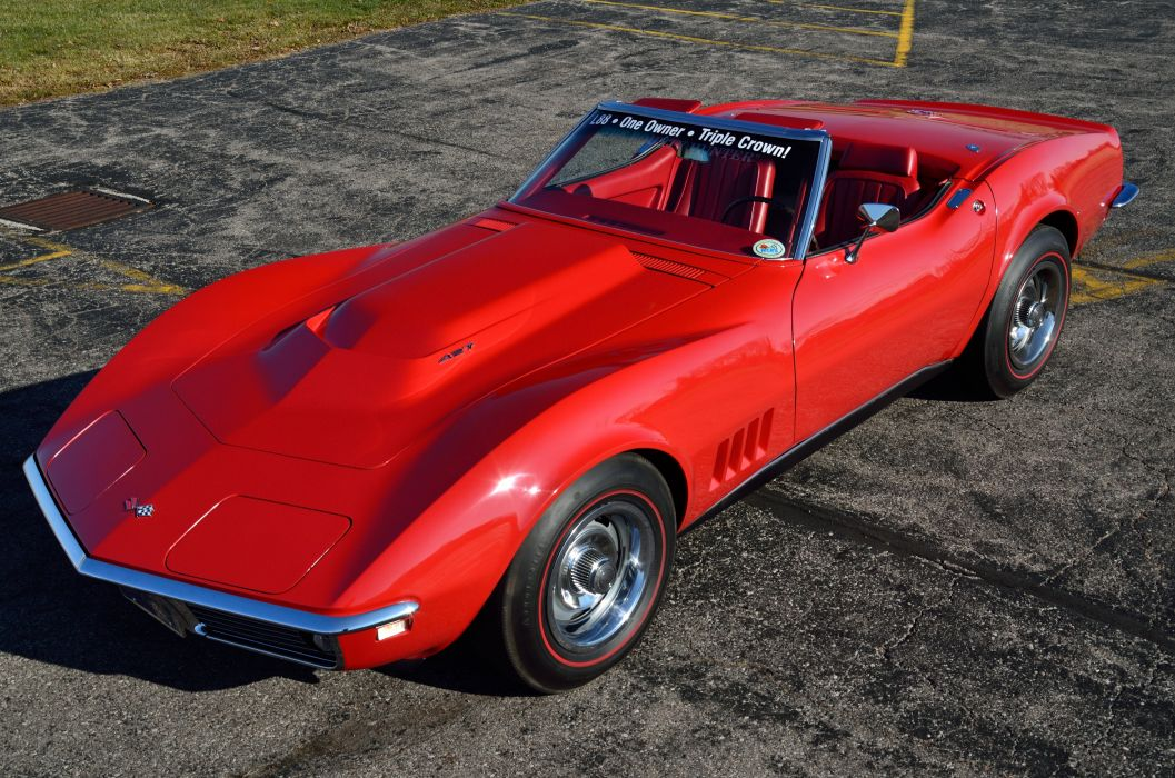 1968 Chevrolet Corvette Stingray Convertible Muscle Classic USA d 4928x3264-07 wallpaper